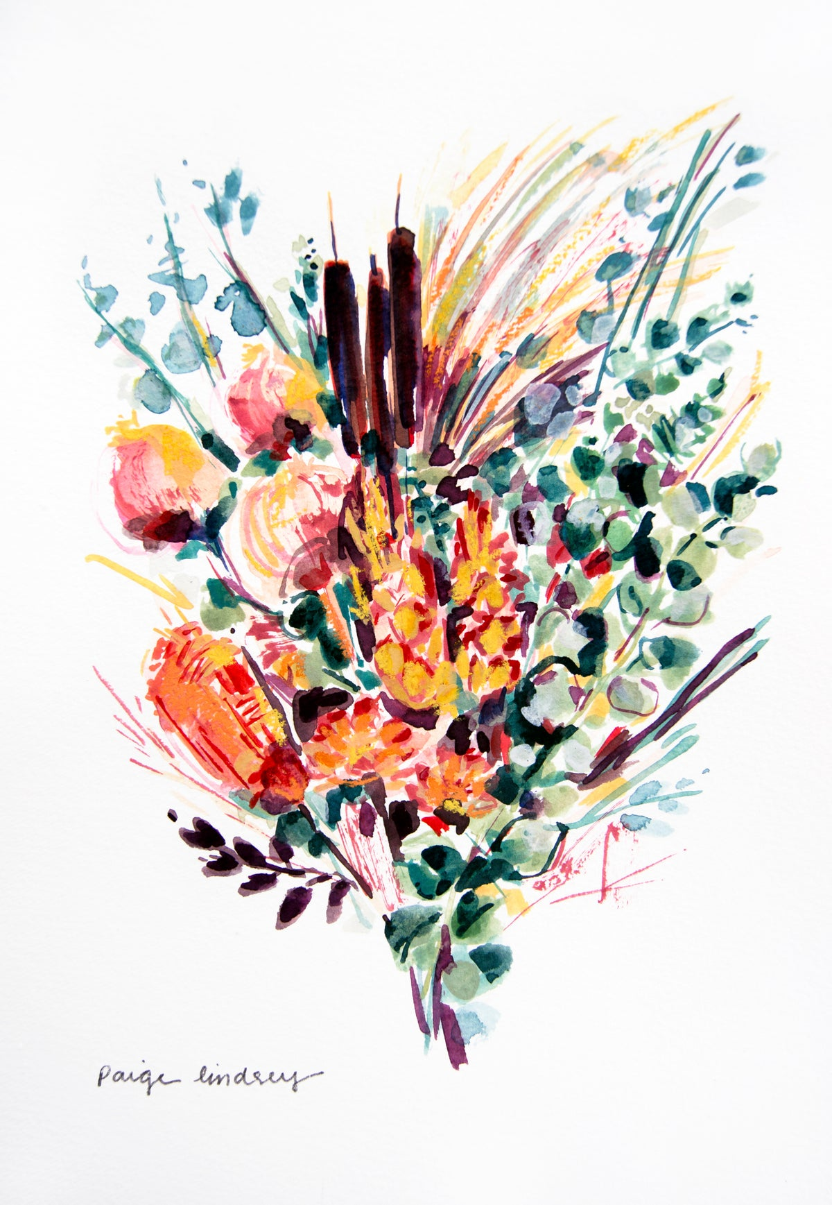 Image of Dried Flower Bouquet Print