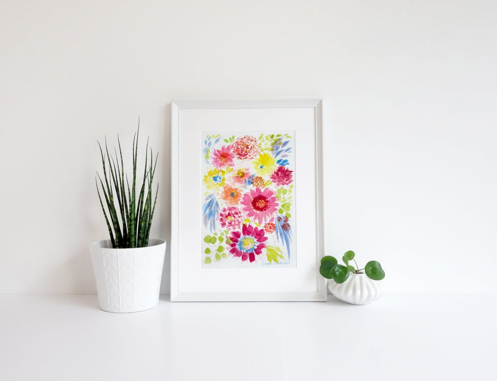 Image of Boho Bouquet Print