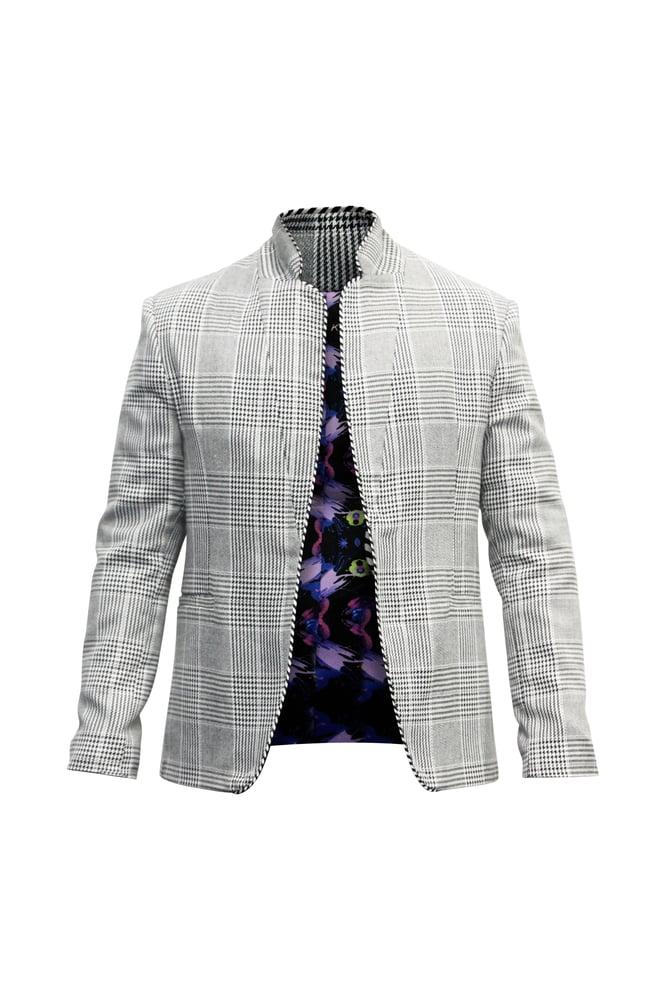 Image of Yarn Dye Plaid Blazer