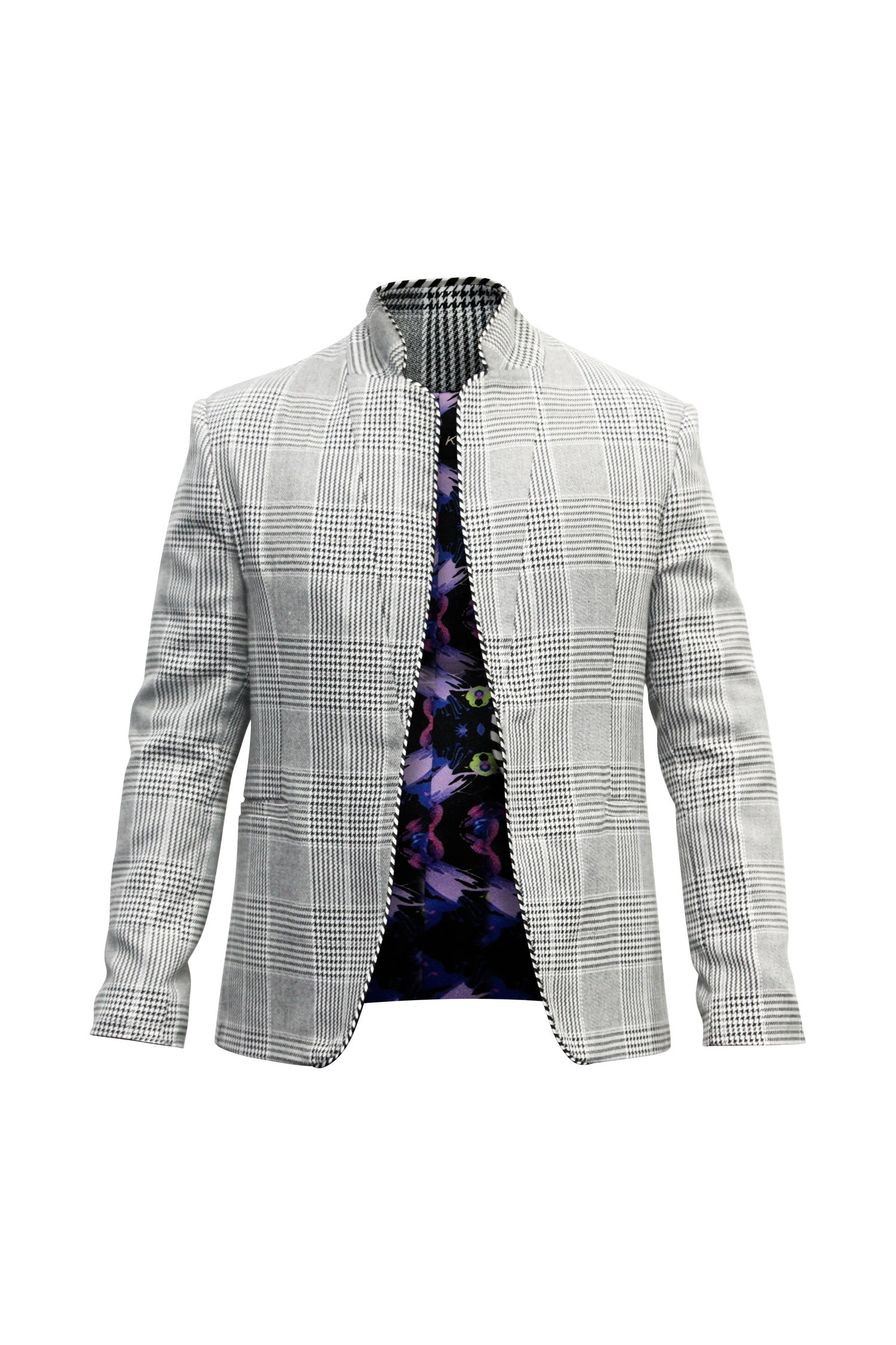 Image of Yarn Dye Plaid Blazer