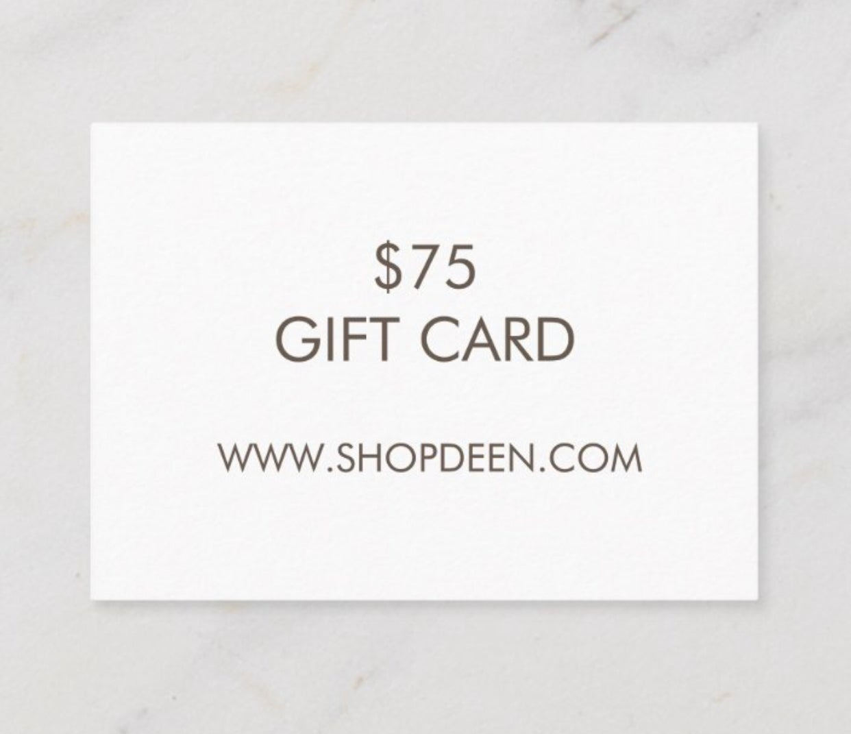 Image of $75 DEEN GIFT CARD