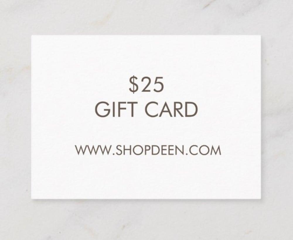 Image of $25 DEEN GIFT CARD