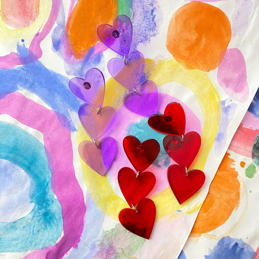 Image of QUEEN OF HEARTS EARRINGS