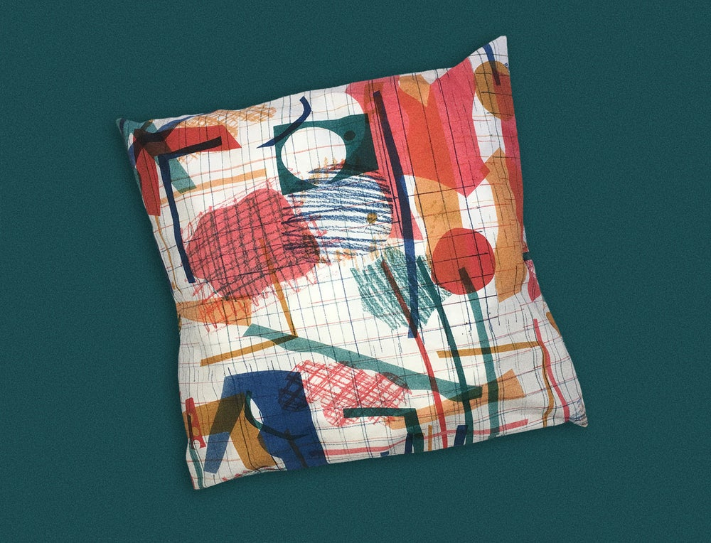 Image of COLOR COLLAGE PILLOWCASE