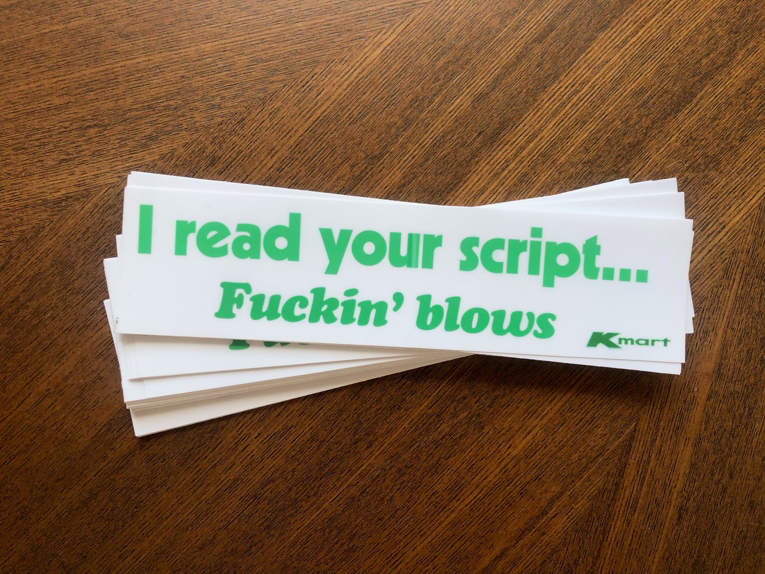 "Image of ""I Read Your Script..."" 3 Pack"
