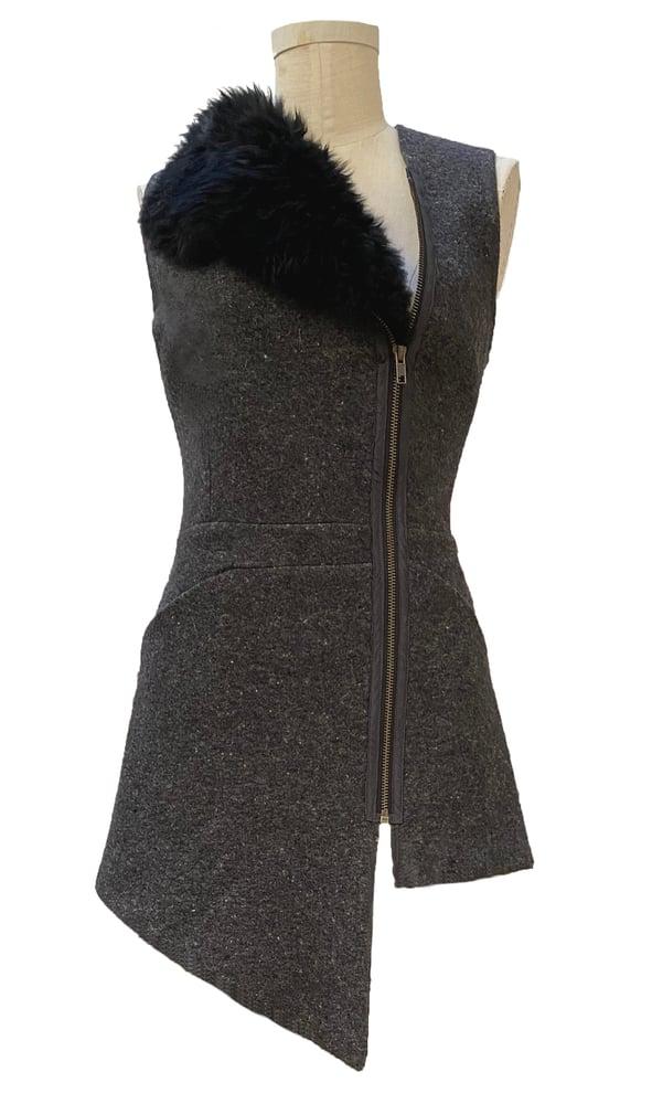 Image of felted wool vest