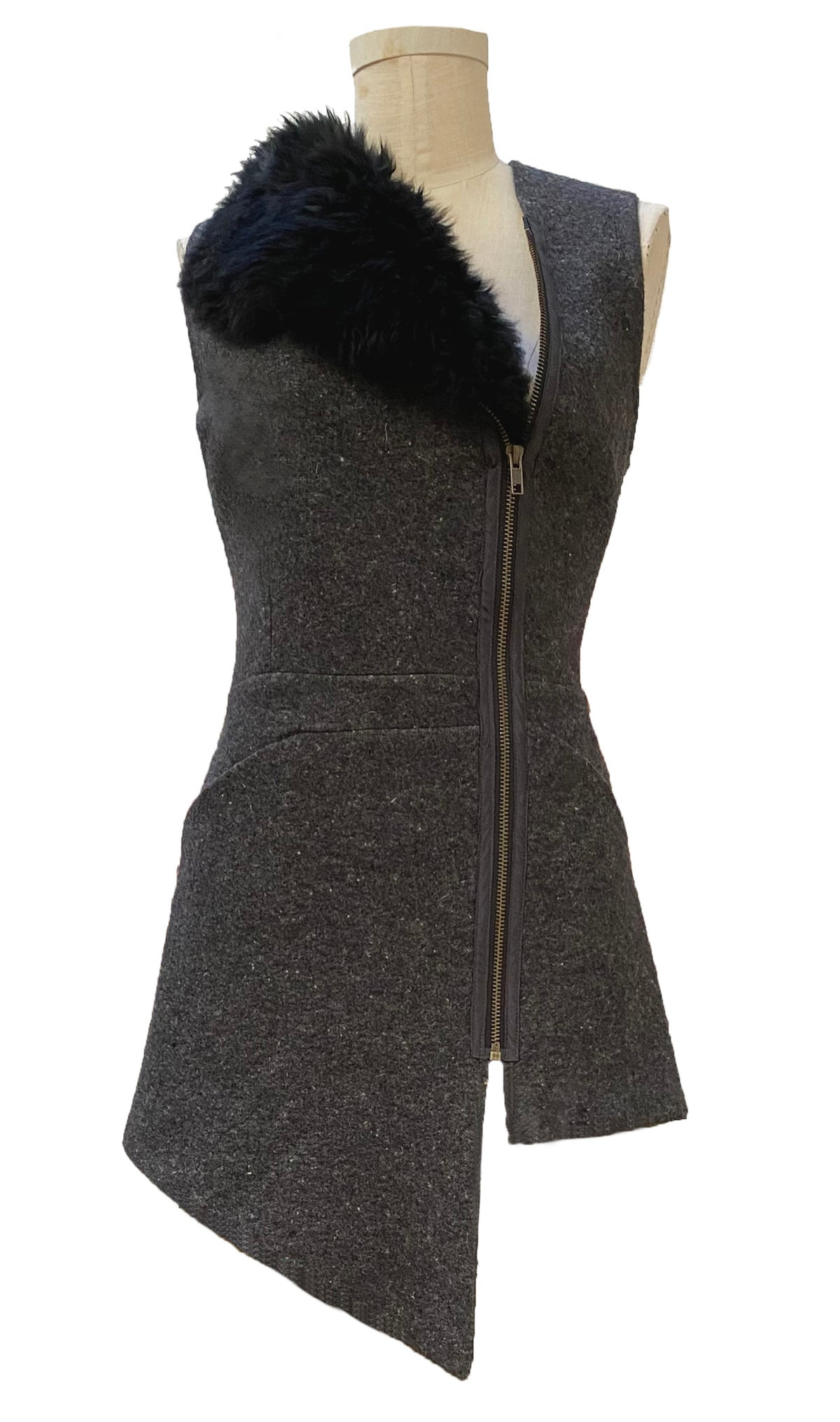 Image of felted wool vest