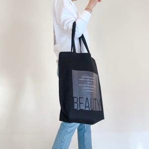 'Beauty' Canvas Tote Bag