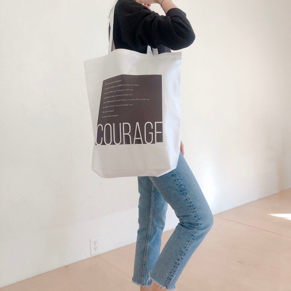 'Courage' Canvas Tote Bag