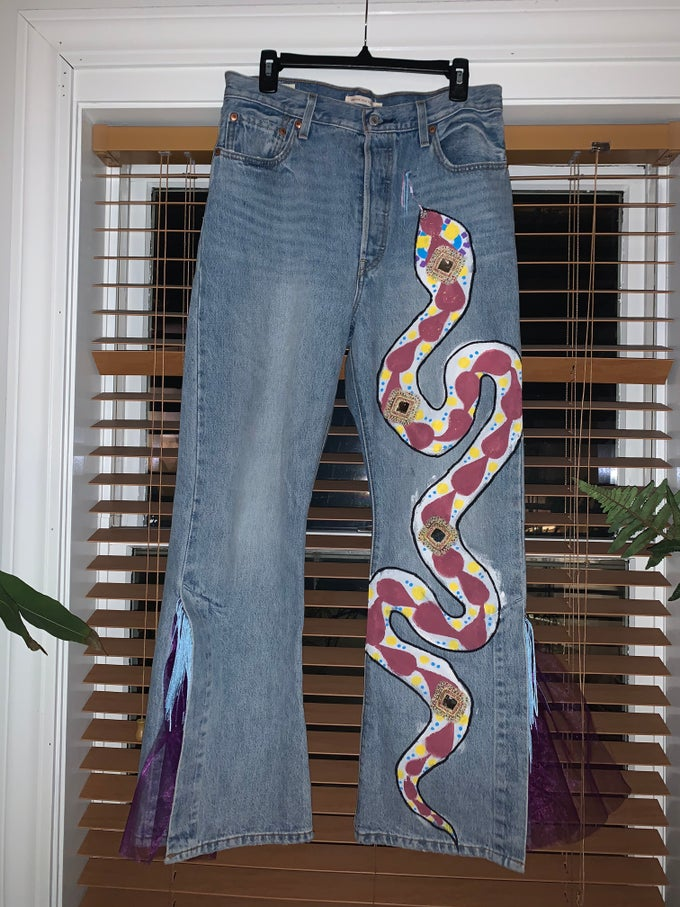 Image of MAGIC SNAKE PANTS