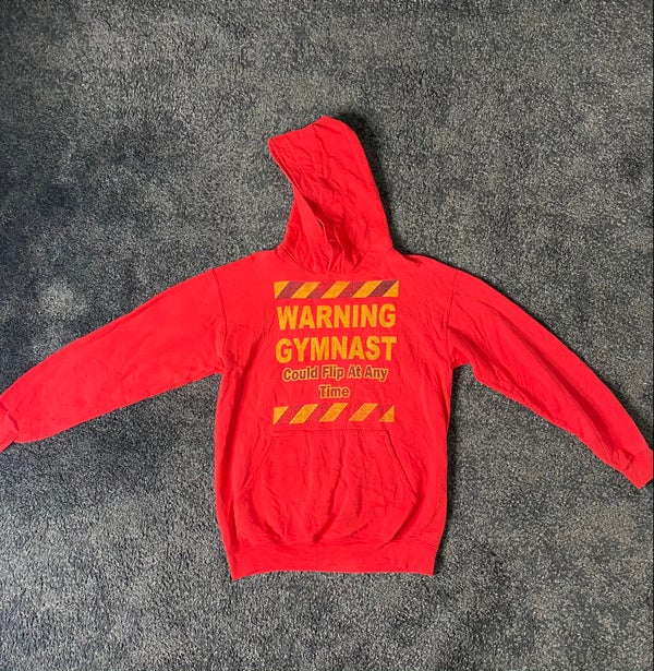 Image of Warning Gymnast (hoodie)