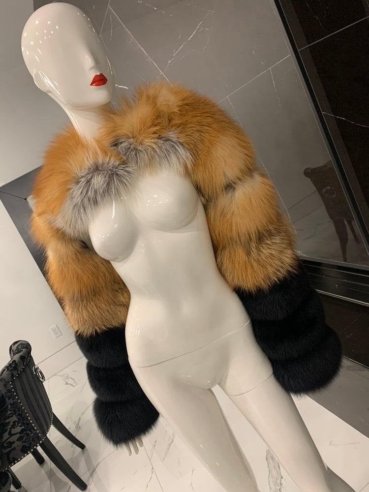 Image of Double Fox Fur Sleeve