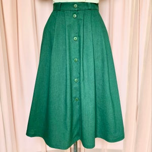Image of Phuncle Pleated Skirt - Green