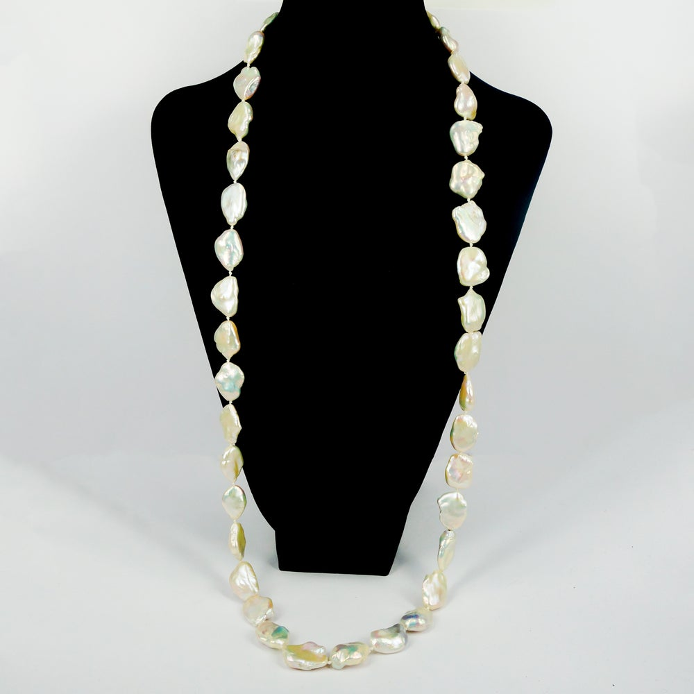 Image of Large baroque pearl opera length. Cp1148