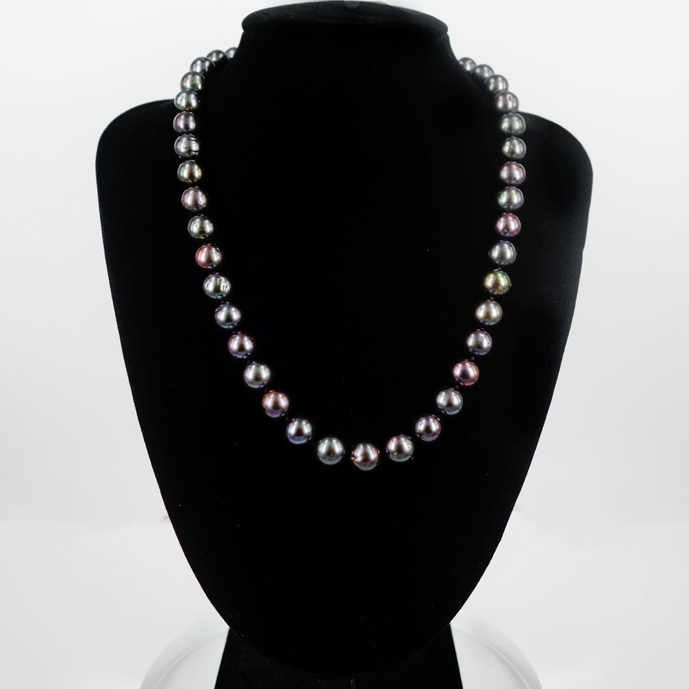 Image of Dark freshwater pearl necklace. Cp1155