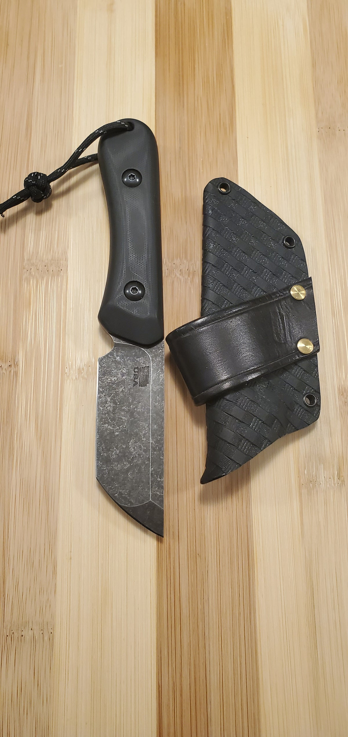 Image of Osborne Knives & Tepe Designs Tanto Fixed Blade