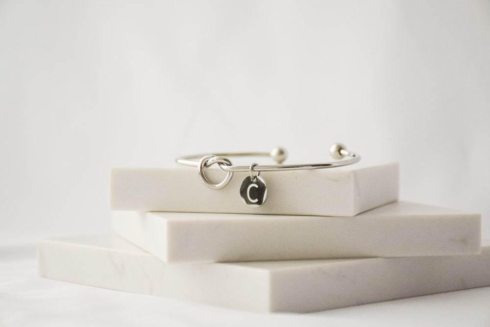 Image of Personalised Pendant Knot Bangle