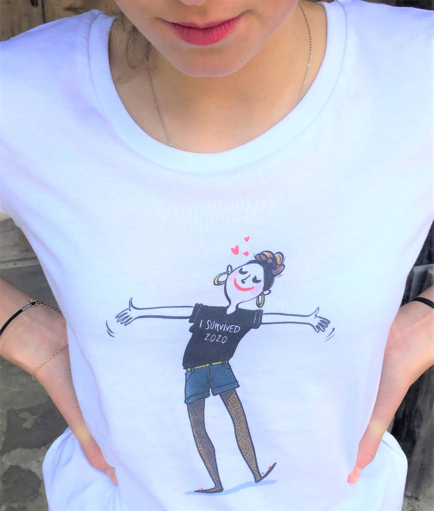 "Image of The Simones X Mademoiselle Caroline - Tee Shirt ""I SURVIVED 2020"""