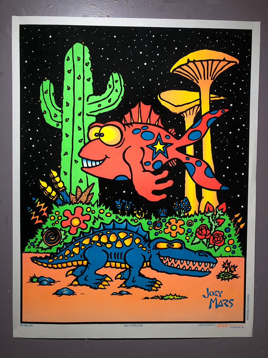 Image of Vintage Paleon Black Light Poster
