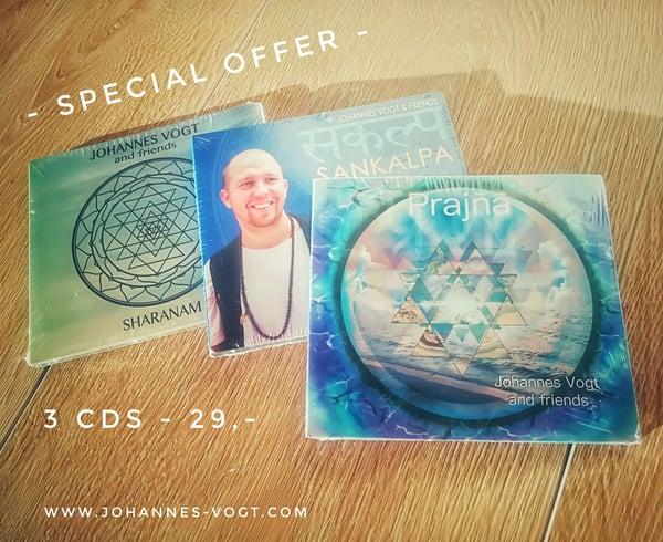 Image of 3 CDs Bundle  - Johannes Vogt and friends