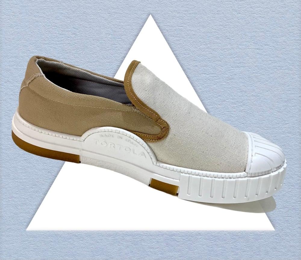 Image of Tortola X Quarter416 slip on sneaker shoes made in Spain