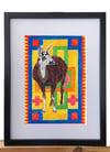 Brown and White Llama – A4 Print