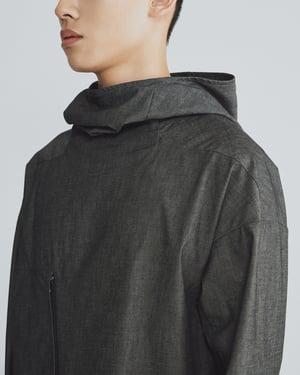 Image of TRAN - 高領口袋連帽衫 (單寧灰)