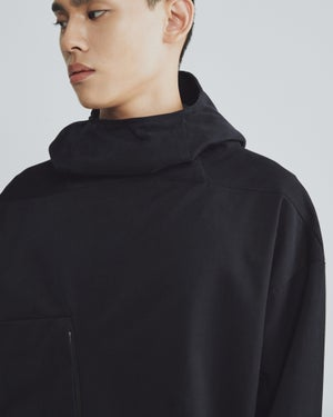 Image of TRAN - 高領口袋連帽衫 (黑)