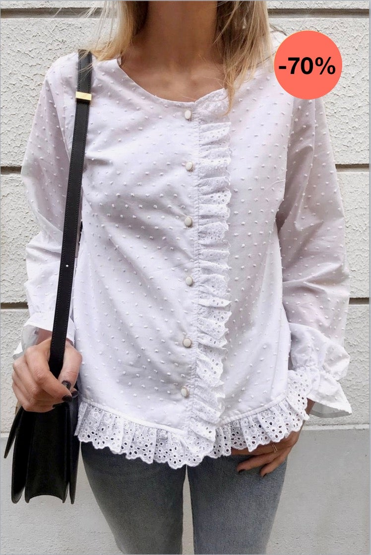 Image of BLOUSE PAULA - BRODERIE