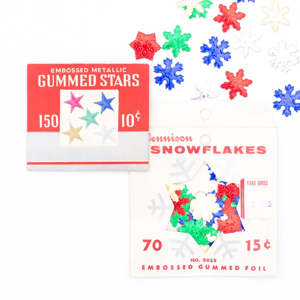 Image of Foil Stars & Snowflakes - Set of 2