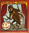 Biscayne roach circus shirt with  hand screened  poster in heavy fabric