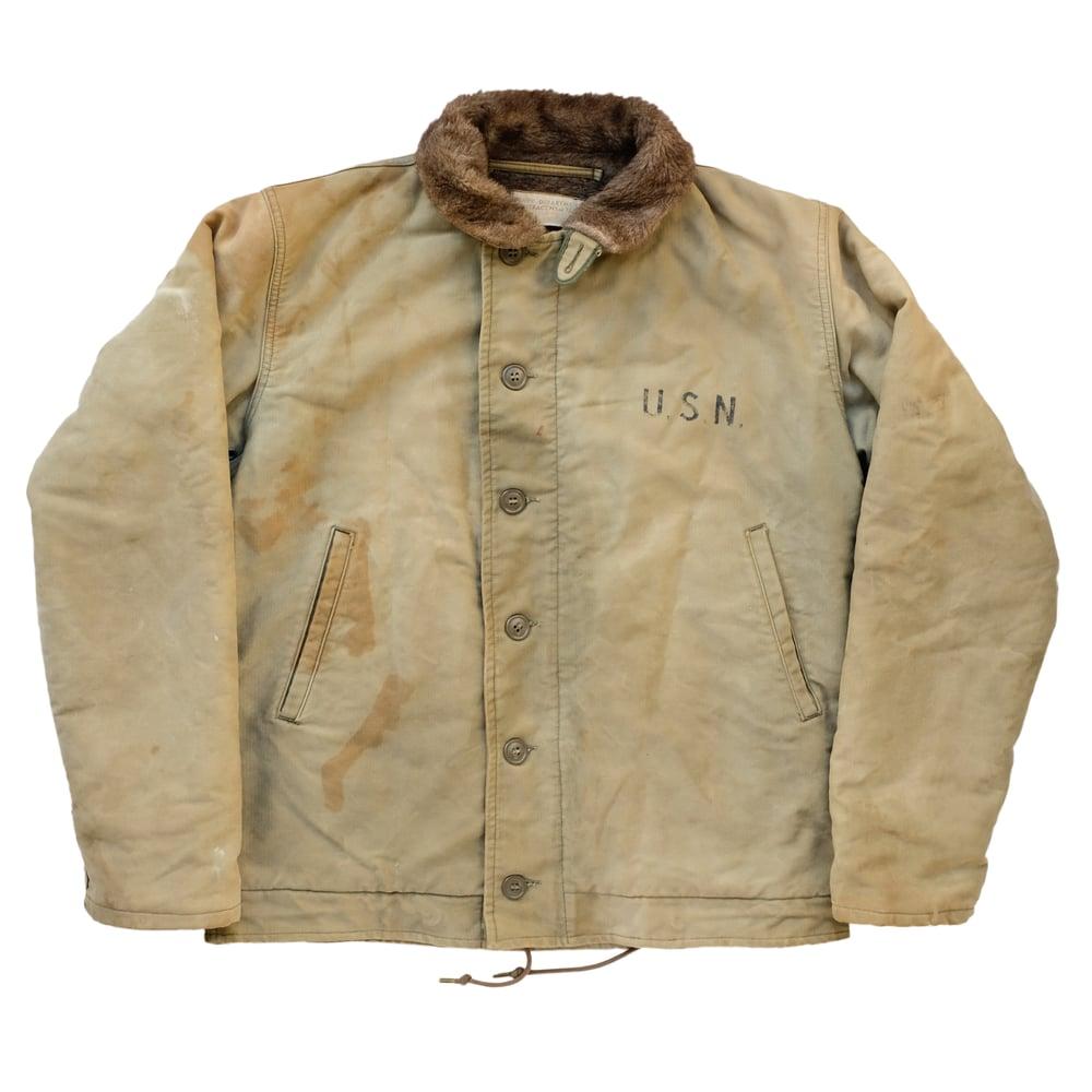Image of Vintage 1940's USN N-1 YORKTOWN Deck Jacket