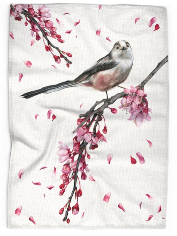 Image of Long Tailed Tit - Tea Towel