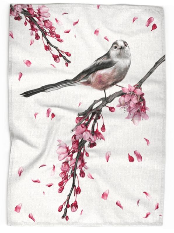 Image of Long Tailed Tit - Tea Towel