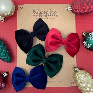 Image of Holiday Velvet Ava Bows (Ready to Ship)