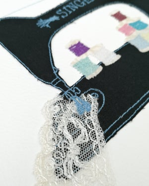 Image of Vintage Singer Sewing Machine Embroidery
