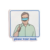 Image of please wear mask- sticker