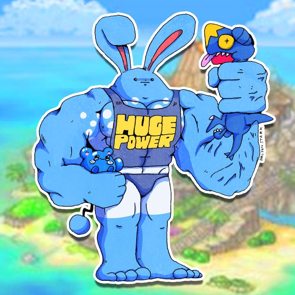 Image of Huge Power Azumarill Sticker