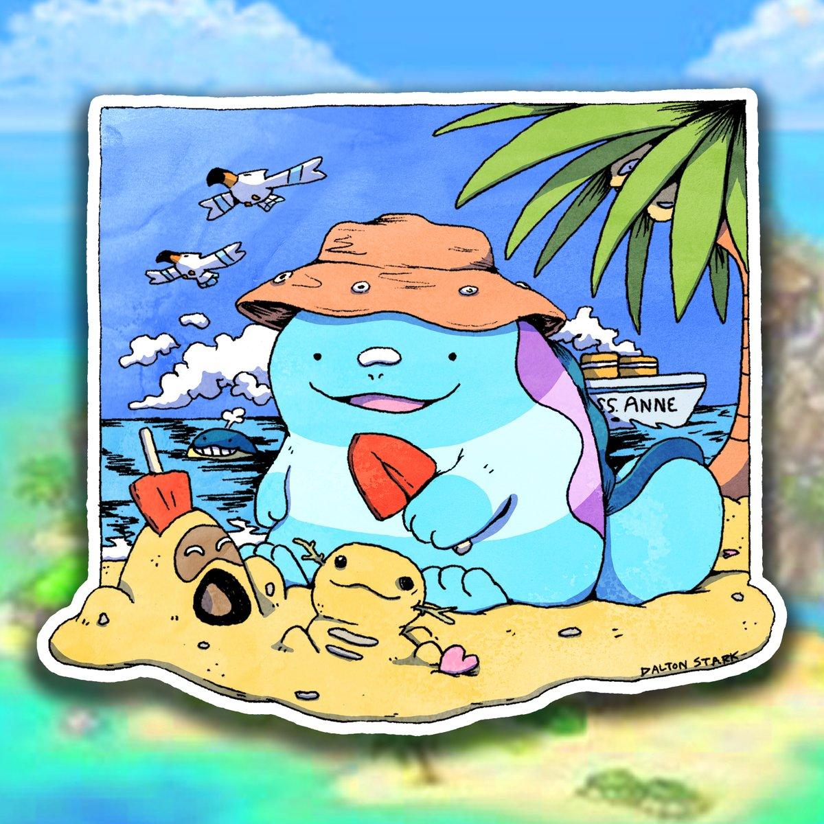 Image of Quagsire Beach Sticker