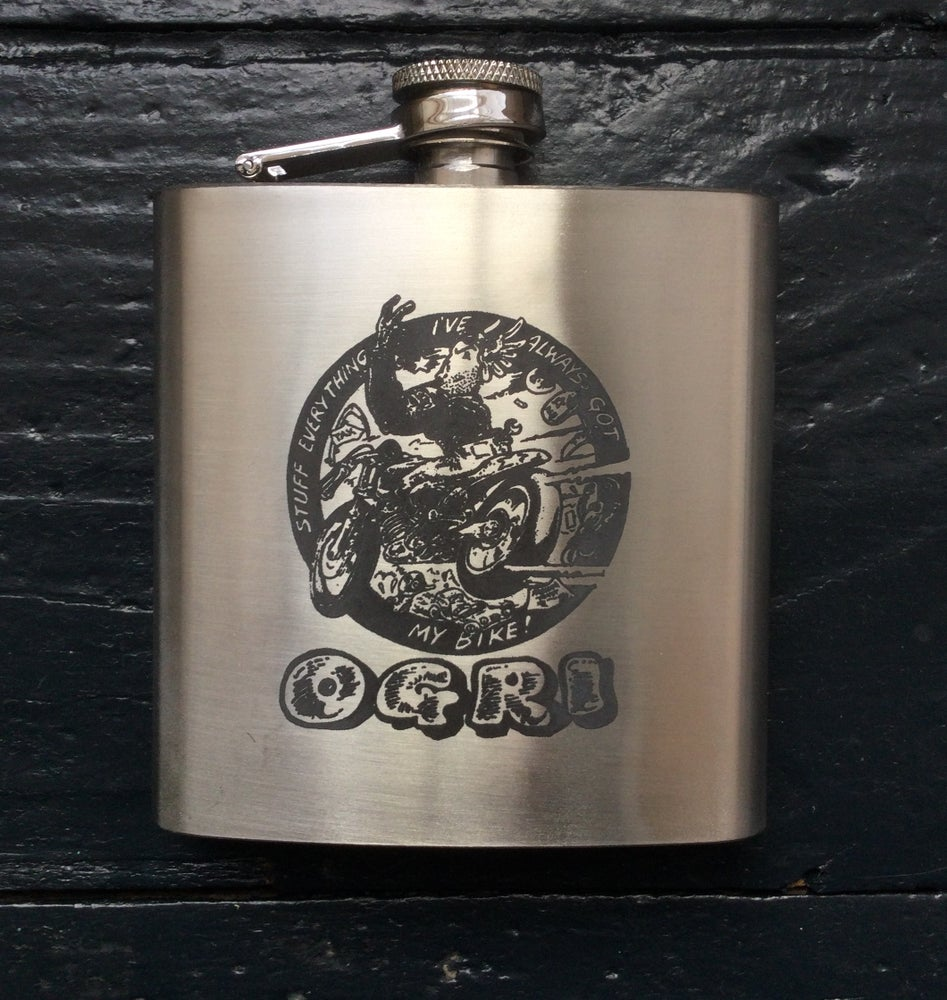 Image of NEW! Laser-engraved stainless flasks
