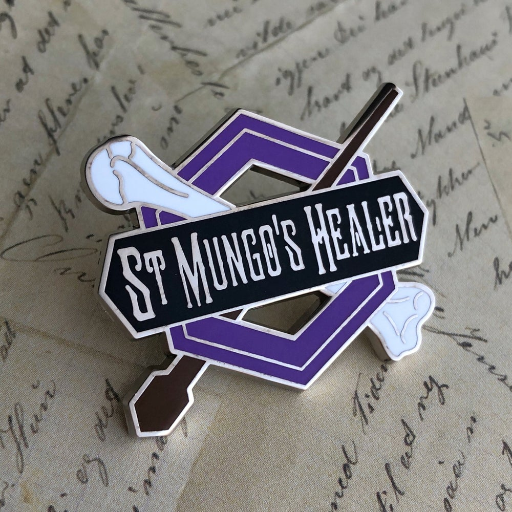 Image of St. M's Healer Pin