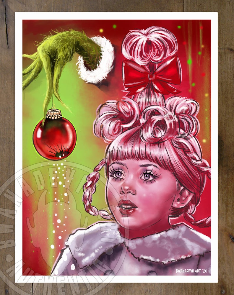 Image of Cindy-Lou Who (The Grinch) Art Print 9x12