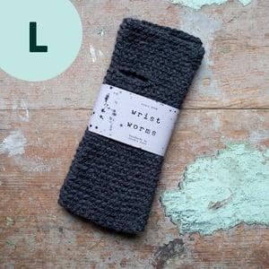 Wrist Worms, Alpaca/Wool, Graphite LARGE