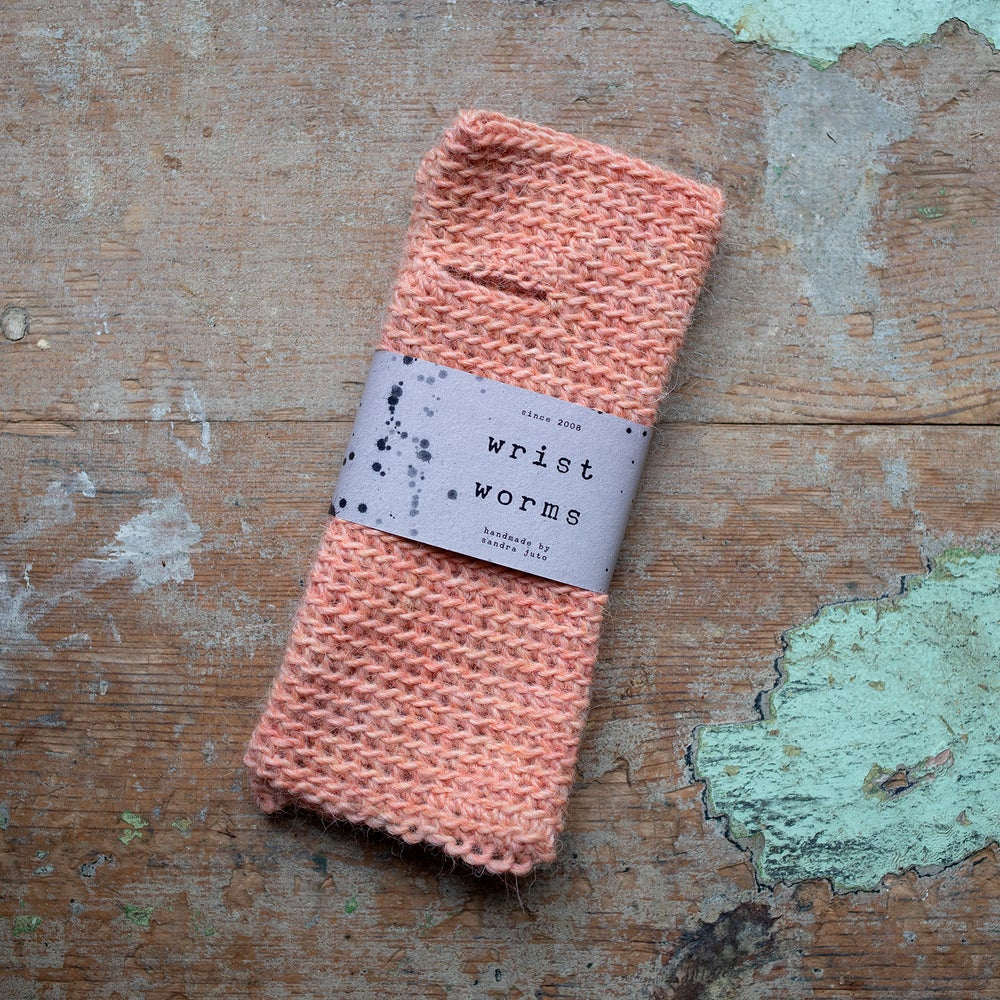 Image of Wrist Worms, Wool/Lama Coral