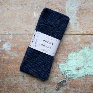 Image of Wrist Worms, Wool/Lama Navy