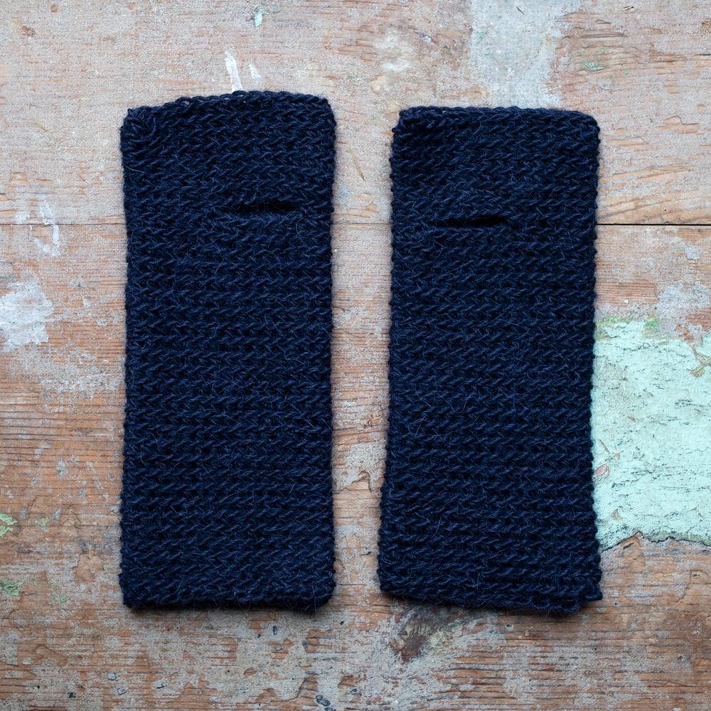 Image of Wrist Worms, Wool/Lama Navy