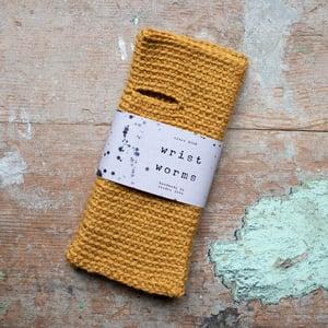 Wrist Worms, Wool, Mustard