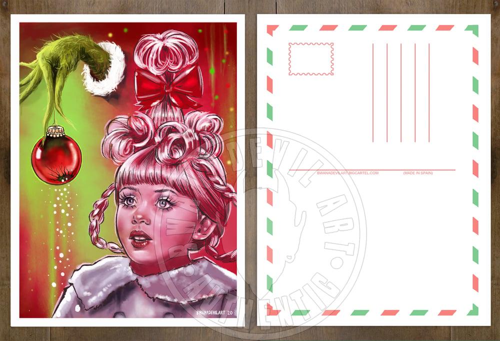 Image of Cindy-Lou Who (The Grinch) Christmas Postcard