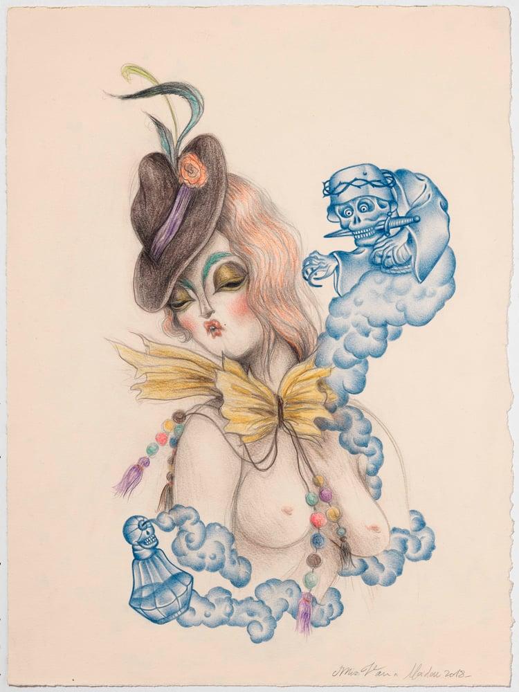 Image of INDIGO MUSE II - Miss Van & Ramon Maiden collaboration print-