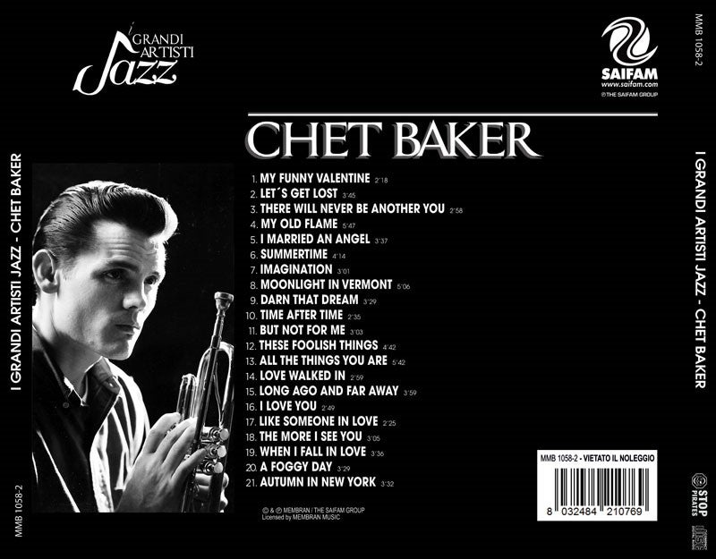 MMB1058-2 // I GRANDI ARTISTI JAZZ- CHET BAKER (CD COMPILATION)